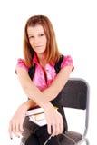 Junge Kursteilnehmerfrau. stockfotos