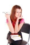 Junge Kursteilnehmerfrau. lizenzfreies stockbild
