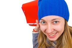 Junge Kursteilnehmerfrau Lizenzfreies Stockfoto