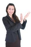 Junge lächelnde Geschäftsfrau Lizenzfreie Stockfotos