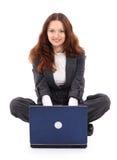 Junge lächelnde Geschäftsfrau Stockbild
