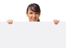Junge lächelnde Geschäftsfrau Lizenzfreies Stockbild