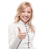 Junge lächelnde Geschäftsfrau Stockfotos