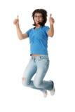 Junge lächelnde Kursteilnehmerfrau lizenzfreies stockfoto