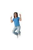 Junge lächelnde Kursteilnehmerfrau lizenzfreie stockbilder