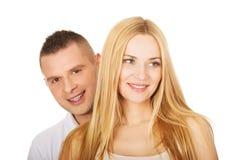 Junge lächelnde Paare Stockfoto