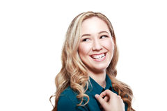 Junge lachende Frau stockfoto