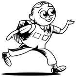 Junge laufen gelassen zur Schule lizenzfreie stockfotografie