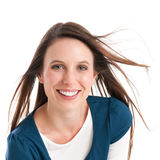 Junge lächelnde Frau Stockfotos