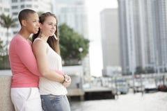 Junge lesbische Paare stockbilder