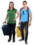 Junge Leute der Ferienfeiertage mit reisendem SMI der Gepäckreise lizenzfreie stockbilder