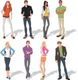 Junge Leute der Karikatur Lizenzfreies Stockfoto