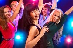 Junge Leute an der Partei. Stockfoto