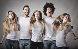 Junge Leute, die Spaß haben Stockfotografie