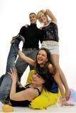 Junge Leute, die Spaß haben Stockbild