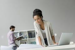 Junge Leute im Büro Stockfoto