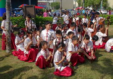 Junge Leute-Orchester für traditioneller Chinese-Musik Stockbilder