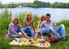 Junge Leute am Picknick Lizenzfreie Stockbilder