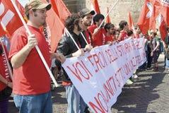 Junge Leute von Rifondazione Comunista Lizenzfreie Stockfotografie