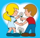 Junge Liebe stock abbildung