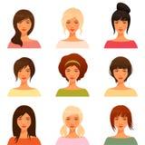 Junge Mädchen mit verschiedener Frisur Lizenzfreie Stockbilder