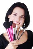 Junger Make-upkünstler lizenzfreie stockfotografie