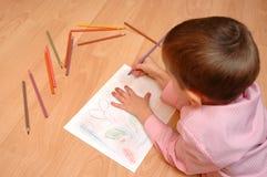 Junge malt die Abbildung Lizenzfreie Stockfotografie