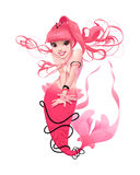 Junge Meerjungfrau im Rosa Lizenzfreies Stockbild