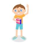 Junge mit Büchern Stockbild