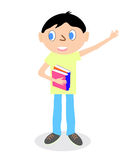 Junge mit Büchern Lizenzfreie Stockbilder