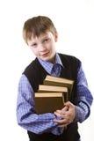 Junge mit Büchern Stockfotografie