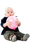 Junge mit Ballon Stockfotos