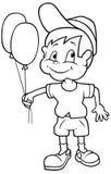 Junge mit Ballonen Lizenzfreies Stockfoto
