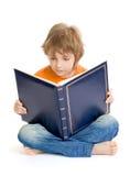 Junge mit Buch Lizenzfreies Stockbild