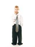 Junge mit dem Telefon Stockfoto