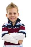 Junge mit den Armen gekreuzt Stockbilder