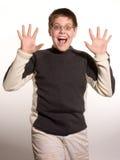 Junge mit den Händen Lizenzfreie Stockfotos