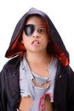 Junge mit dracul Verkleidung lizenzfreie stockbilder
