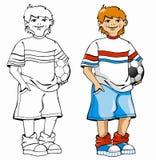 Junge mit einem Ball Lizenzfreie Abbildung