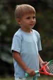 Junge mit einem Schläger Lizenzfreies Stockfoto
