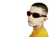 Junge mit einer Fluglage Stockfotografie