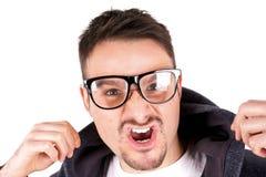 Junge mit Gläsern Stockfotografie