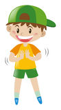 Junge mit großem Lächeln lizenzfreie abbildung