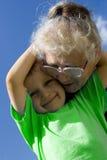 Junge mit Großmutter Lizenzfreies Stockbild