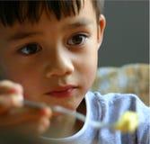Junge mit Hoffnung Stockbild
