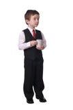 Junge mit Kaffeetasse Lizenzfreies Stockfoto