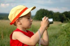 Junge mit Kamera Stockfotos
