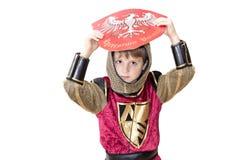 Junge mit Karnevalskostüm Stockfotos