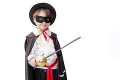 Junge mit Karnevalskostüm Stockfoto