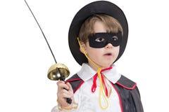 Junge mit Karnevalskostüm Stockbilder